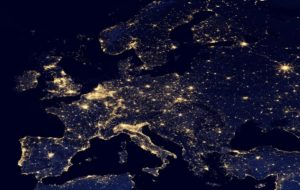 Europe by night from space